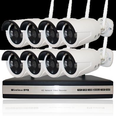 Комплект W8: 8 камер 720p + ресивер
