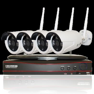 Комплект WS4: 4 камеры 720p + ресивер с экраном